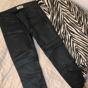 Madewell pleather coated skinny jeans